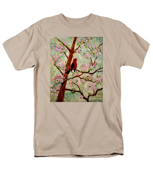 Men's T-Shirt  (Regular Fit) featuring the painting Red Tangler by Denise Tomasura