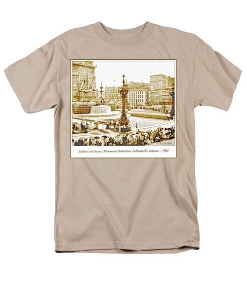 Soldiers' And Sailors' Monument Dedication, Indianapolis, Indian Men's T-Shirt  (Regular Fit) by A Gurmankin
