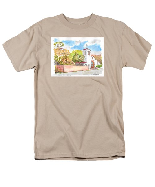 St. Catherine Of Alexandria Catholic Church, Avalon, Santa Catalina Island, Ca Men's T-Shirt  (Regular Fit) by Carlos G Groppa