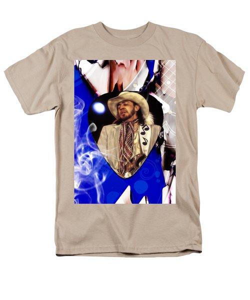 Stevie Ray Vaughan Art Men's T-Shirt  (Regular Fit) by Marvin Blaine