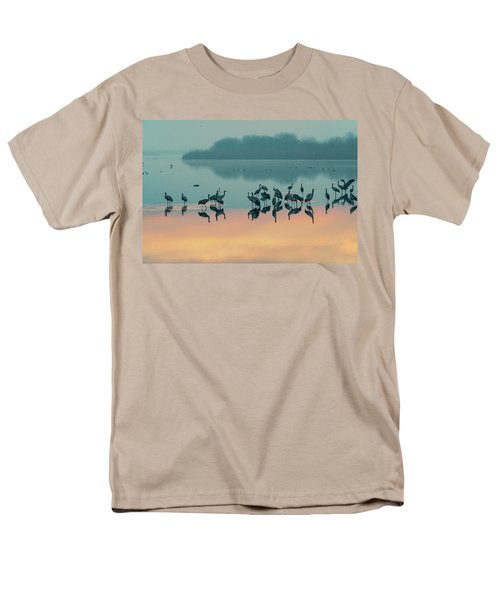 Sunrise Over The Hula Valley Men's T-Shirt  (Regular Fit) by Dubi Roman