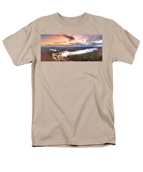 Sunset At Saville Dam - Barkhamsted Reservoir Connecticut Men's T-Shirt  (Regular Fit) by Petr Hejl