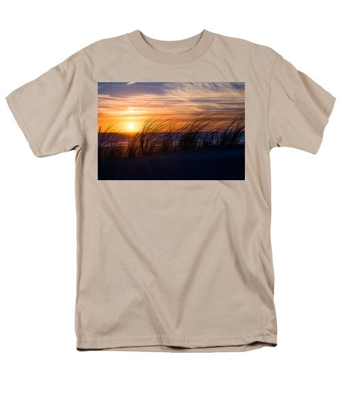 Men's T-Shirt  (Regular Fit) featuring the photograph sunset at the North Sea by Hannes Cmarits