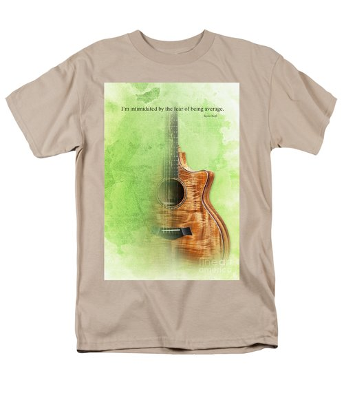 Taylor Inspirational Quote, Acoustic Guitar Original Abstract Art Men's T-Shirt  (Regular Fit) by Pablo Franchi