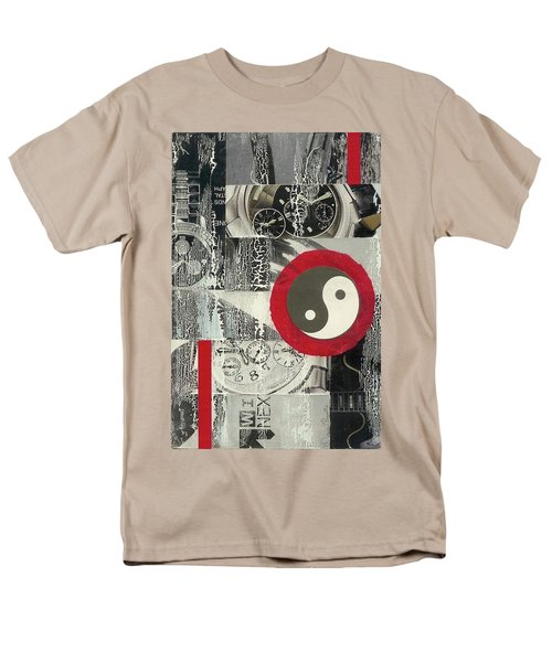 Men's T-Shirt  (Regular Fit) featuring the mixed media Ying Yang by Desiree Paquette