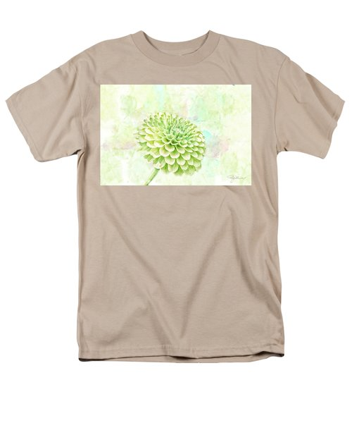 10891 Green Chrysanthemum Men's T-Shirt  (Regular Fit) by Pamela Williams