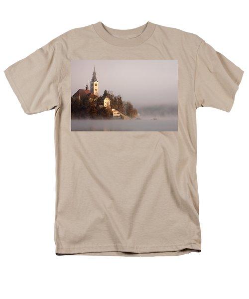 Misty Lake Bled Men's T-Shirt  (Regular Fit) by Ian Middleton