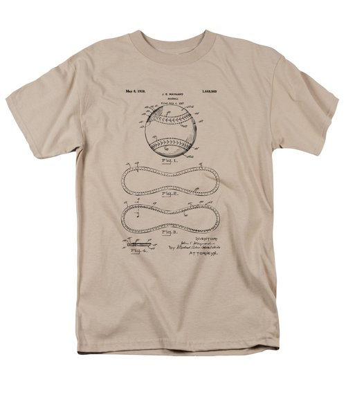 1928 Baseball Patent Artwork Vintage Men's T-Shirt  (Regular Fit) by Nikki Marie Smith