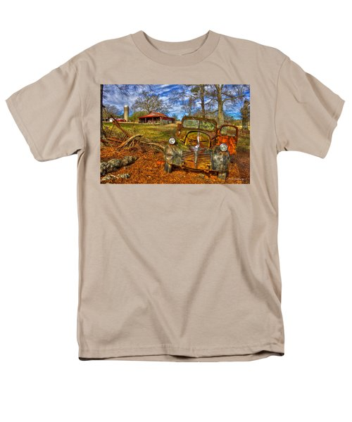 1947 Dodge Dump Truck Country Scene Art Men's T-Shirt  (Regular Fit) by Reid Callaway