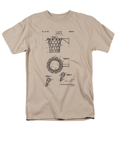 1951 Basketball Net Patent Artwork - Vintage Men's T-Shirt  (Regular Fit) by Nikki Marie Smith