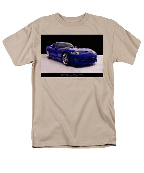 Men's T-Shirt  (Regular Fit) featuring the digital art 1997 Dodge Viper Gts Blue by Chris Flees