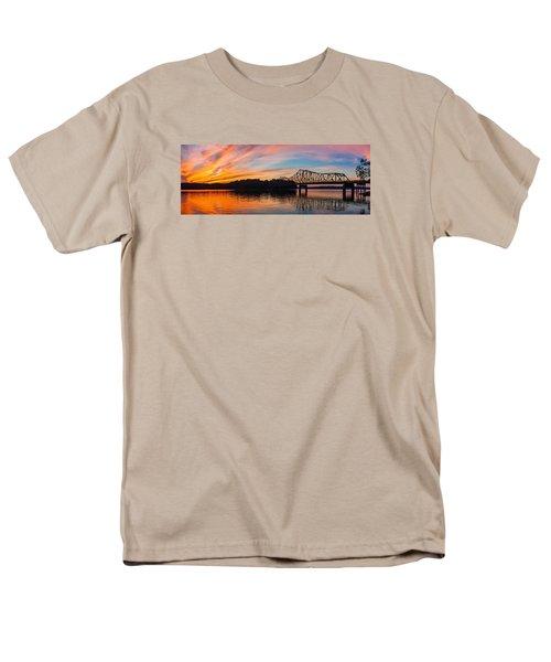 Browns Bridge Sunset Men's T-Shirt  (Regular Fit) by Michael Sussman