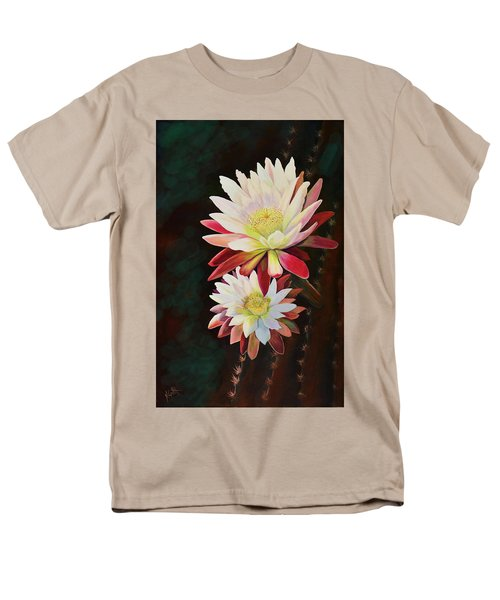 Men's T-Shirt  (Regular Fit) featuring the painting Cereus Business by Marilyn Smith