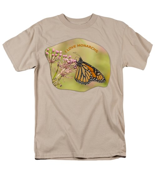 Men's T-Shirt  (Regular Fit) featuring the photograph I Love Monarchs by Thomas Young