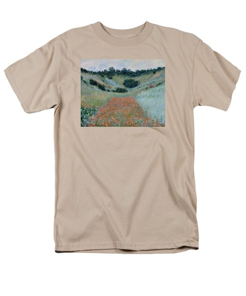 Poppy Field In A Hollow Near Giverny Men's T-Shirt  (Regular Fit) by Claude Monet