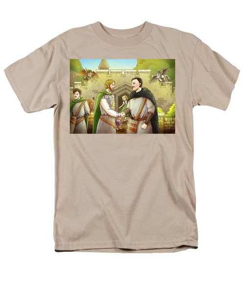 Robin Hood And The Captain Of The Guard Men's T-Shirt  (Regular Fit) by Reynold Jay
