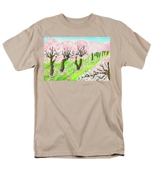 Spring Garden, Painting Men's T-Shirt  (Regular Fit) by Irina Afonskaya