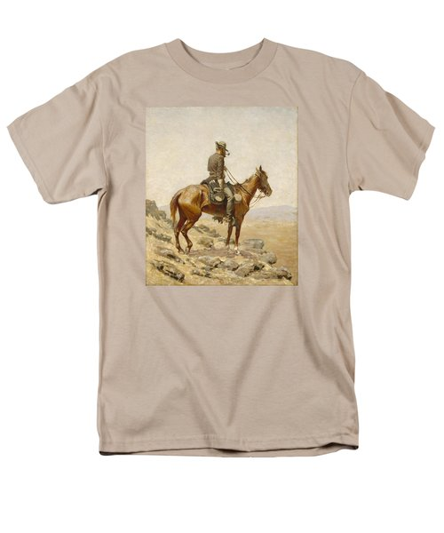 The Lookout Men's T-Shirt  (Regular Fit) by Frederic Remington