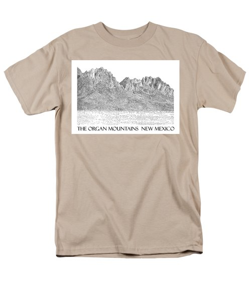 Men's T-Shirt  (Regular Fit) featuring the painting The Organ Mountains by Jack Pumphrey