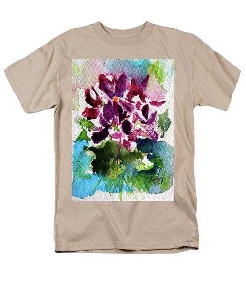 Men's T-Shirt  (Regular Fit) featuring the painting Violet by Kovacs Anna Brigitta