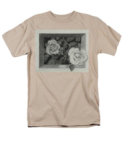2 White Roses Men's T-Shirt  (Regular Fit) by Quwatha Valentine