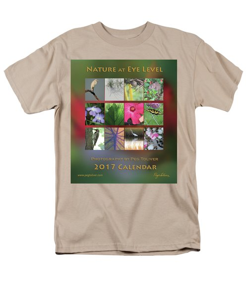 2017 Nature Calendar Men's T-Shirt  (Regular Fit) by Peg Toliver