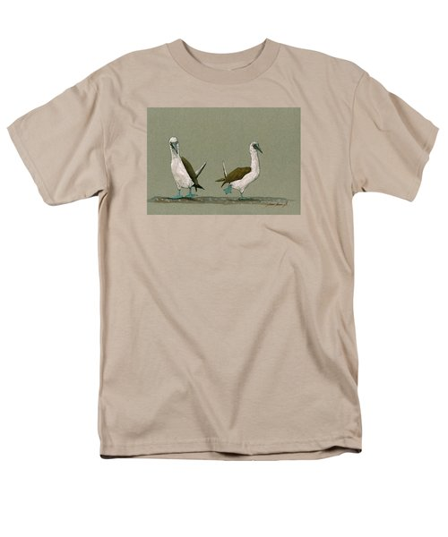 Blue Footed Boobies Men's T-Shirt  (Regular Fit) by Juan  Bosco