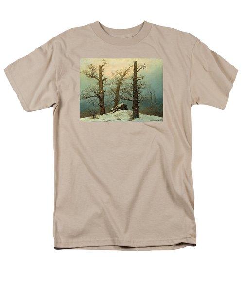 Cairn In Snow Men's T-Shirt  (Regular Fit) by Caspar David Friedrich