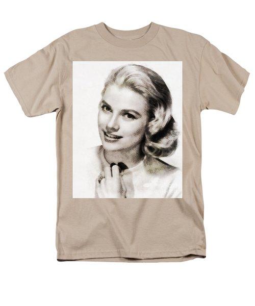 Grace Kelly, Vintage Hollywood Actress Men's T-Shirt  (Regular Fit) by John Springfield
