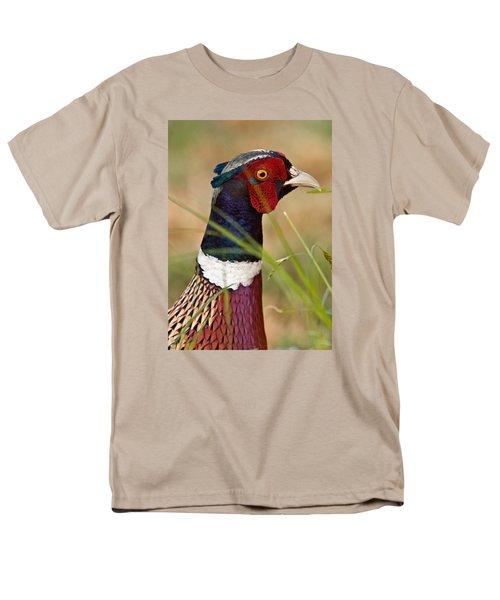 Ring-necked Pheasant Men's T-Shirt  (Regular Fit) by Doug Herr