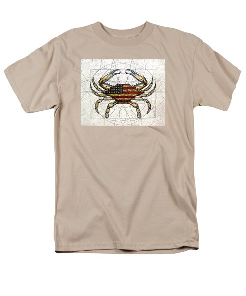 4th Of July Crab Men's T-Shirt  (Regular Fit) by Charles Harden