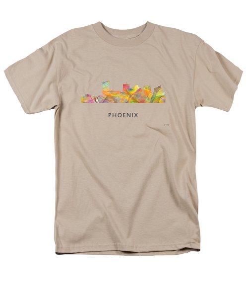 Phoenix Arizona Skyline Men's T-Shirt  (Regular Fit) by Marlene Watson