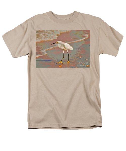 Men's T-Shirt  (Regular Fit) featuring the photograph 6- Snowy Egret by Joseph Keane