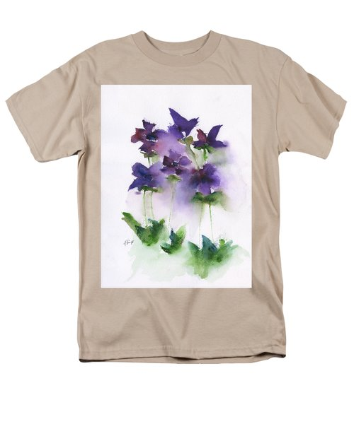6 Violets Abstract Men's T-Shirt  (Regular Fit) by Frank Bright
