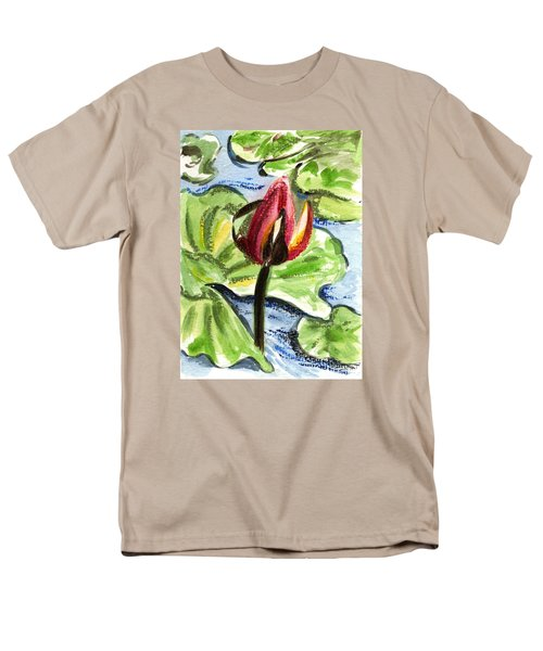 Men's T-Shirt  (Regular Fit) featuring the painting A Birth Of A Life by Harsh Malik