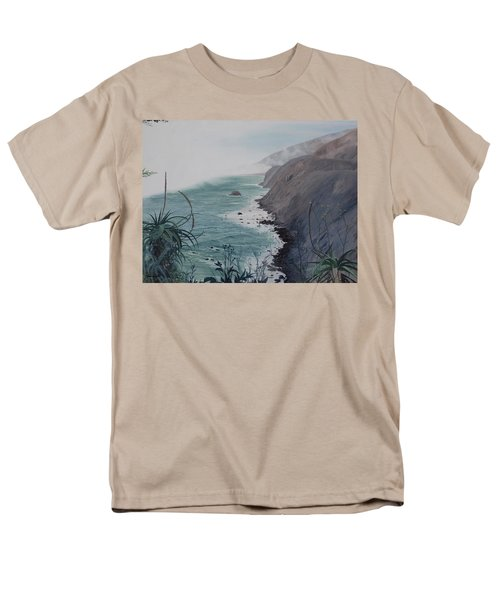 A Fog Creeps In Men's T-Shirt  (Regular Fit) by Barbara Barber