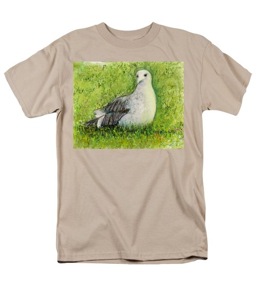 A Gull On The Grass Men's T-Shirt  (Regular Fit) by Laurie Morgan