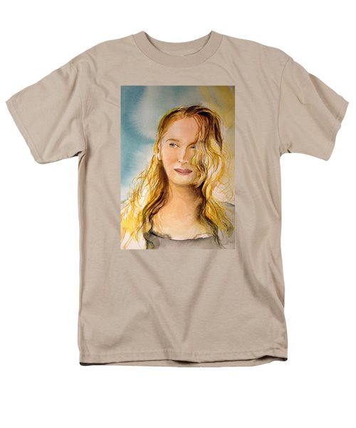 Men's T-Shirt  (Regular Fit) featuring the painting A Little Bit Of Meryl by Allison Ashton