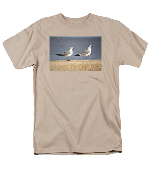 Men's T-Shirt  (Regular Fit) featuring the photograph A Pair Of Gulls by Donna G Smith