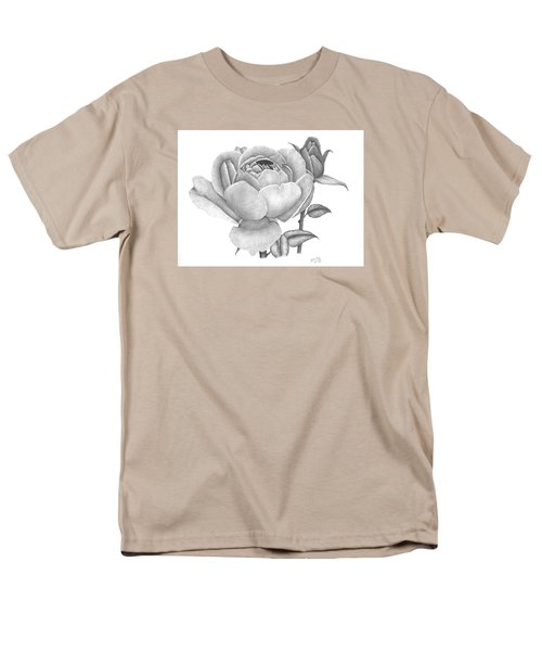 Men's T-Shirt  (Regular Fit) featuring the drawing A Rose Bloom by Patricia Hiltz