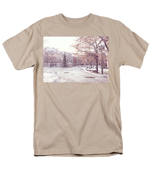 Men's T-Shirt  (Regular Fit) featuring the photograph A Street In Warsaw, Poland On A Snowy Day by Juli Scalzi