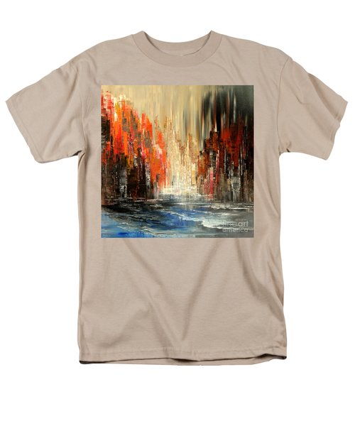 Men's T-Shirt  (Regular Fit) featuring the painting A Tale Of Two Cities by Tatiana Iliina