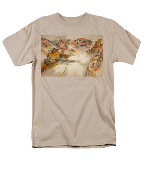 a trip to Lewistown  in Autumn  album Men's T-Shirt  (Regular Fit) by Debbi Saccomanno Chan
