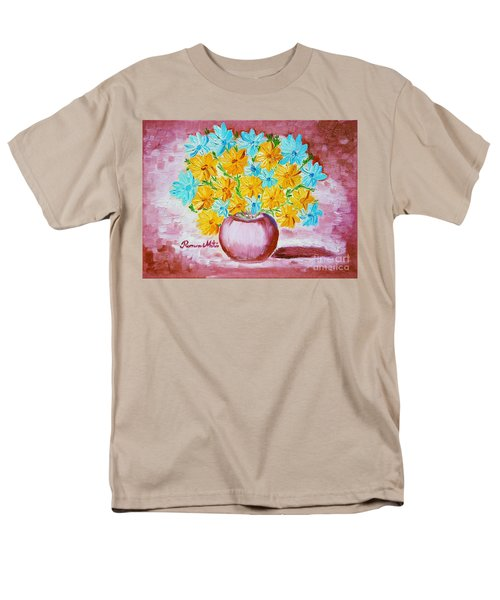 A Whole Bunch Of Daisies Men's T-Shirt  (Regular Fit) by Ramona Matei