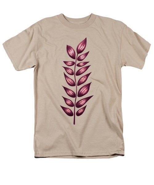 Abstract Plant With Pointy Leaves In Purple And Yellow Men's T-Shirt  (Regular Fit)