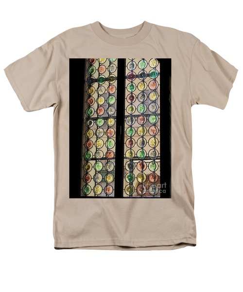Abstract Stained Glass Men's T-Shirt  (Regular Fit) by Patricia Hofmeester