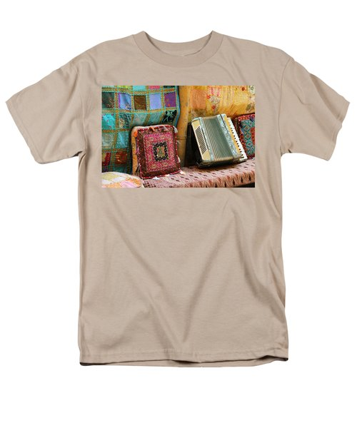 Accordion  With Colorful Pillows Men's T-Shirt  (Regular Fit) by Yoel Koskas