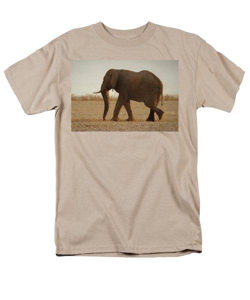 Men's T-Shirt  (Regular Fit) featuring the digital art African Elephant Walk by Ernie Echols