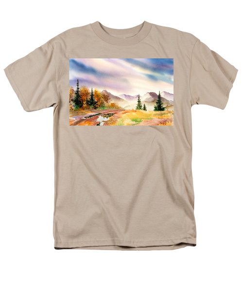 Men's T-Shirt  (Regular Fit) featuring the painting After The Rain by Teresa Ascone