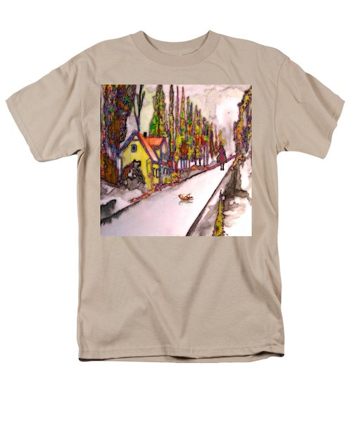 Men's T-Shirt  (Regular Fit) featuring the painting After The Showdown by Mojo Mendiola